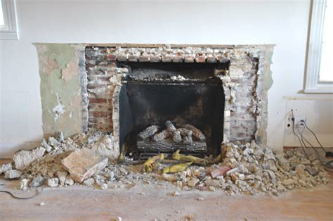 fireplace demo   gas insert happening house updated