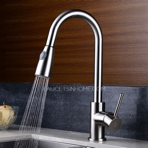 pullout spray cold  hot water kitchen faucet