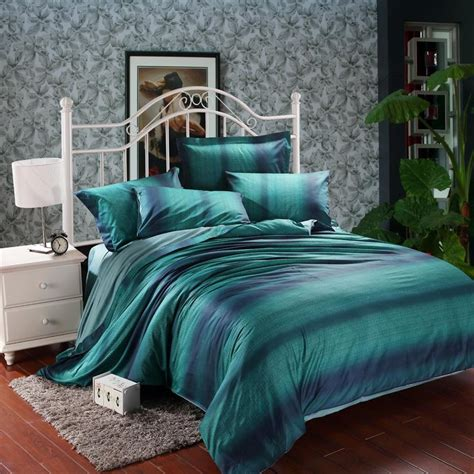 Modern And Elegant Bedroom With Dark Teal Bedding Atzinecom