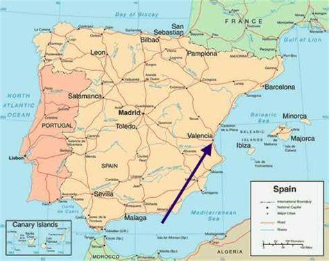 valencia map  valencia satellite image