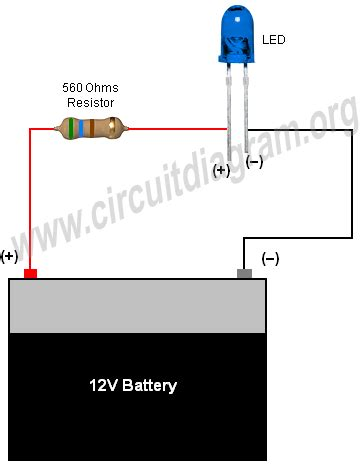 simple basic led circuit circuit diagram electronics