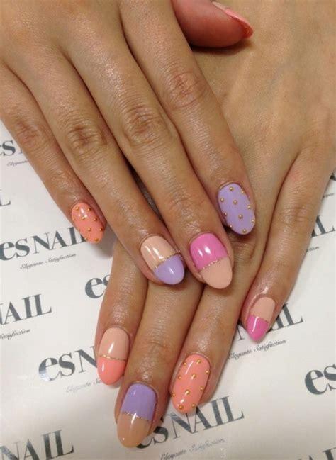 color block nail designs  beginners pretty designs