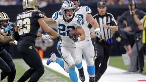 mccaffrey delivers nasty juke  break    yards