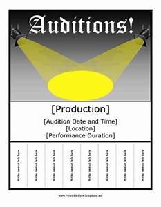 talent show program template word auditions flyer