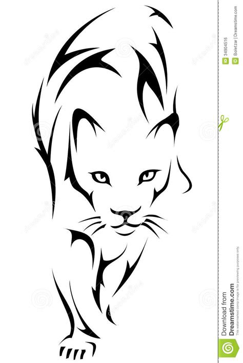 tiger tattoo logo royalty  stock image image