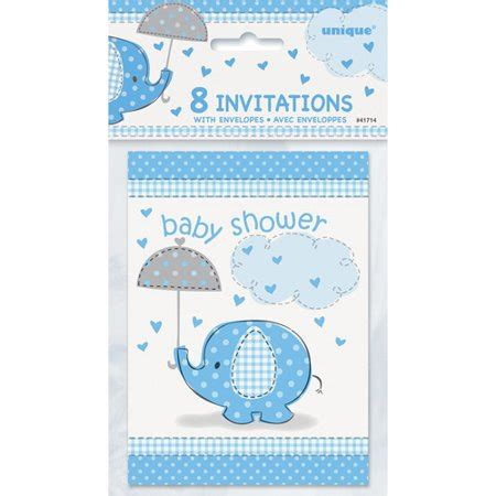 blue elephant baby shower invitations pk walmartcom