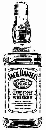 Jack Daniels Bottle Silhouette Coloring Clipart Pages Drawings Pyrography Johnson Whiskey Carolyn Vinyl sketch template