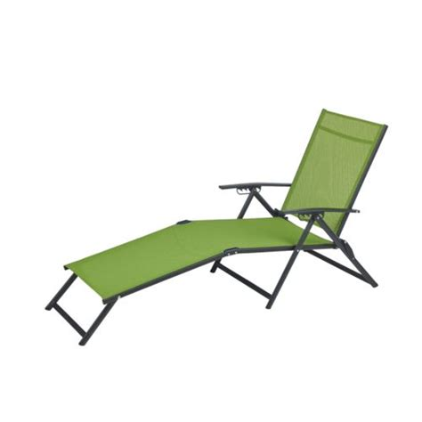 outdoor vinyl fabric folding chaise steel frame chair
