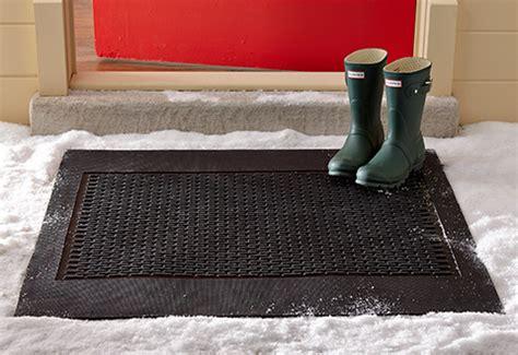Best Doormat For Snow by Electric Snow Melting Door Mat Sharper Image