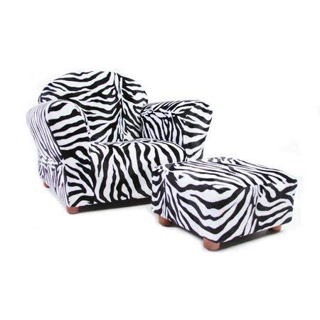 Zebra Ottoman Walmart - keet roundy children s chair zebra with ottoman walmart