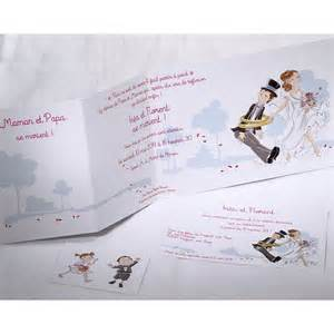 faire part mariage original humoristique faire part mariage humoristique mariés enfants faire part select duo 49566 mesfairepart