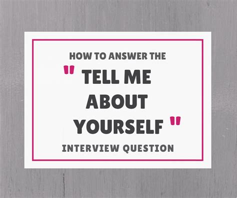 how to talk about yourself during an interview punched clocks