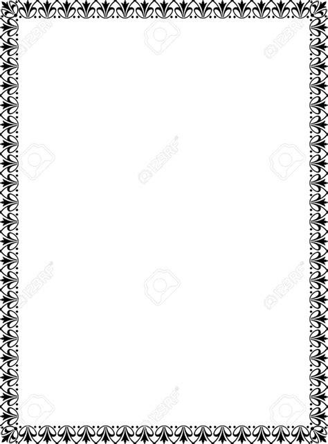 black  white border clipartioncom