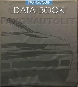 1990 Plymouth Laser Repair Shop Manual Original 2 Volume Set