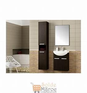 Promo azura home meuble de salle de bain neptune wenge for Meuble salle de bain azura