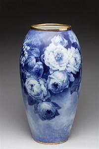 Grand Vase Blanc : limoges grand vase porcelaine d cor bleu et blanc de rose ~ Preciouscoupons.com Idées de Décoration