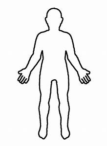 Outline Of The Human Body Front And Back - ClipArt Best