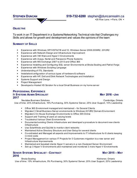 Stephen Resume by Stephen Duncan Resume 2017
