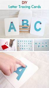 diy letter tracing cards learn how to make felt finger With finger tracing alphabet letters