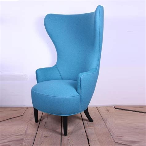 antique wood wing blue high back chair chairs model