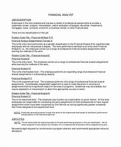 Why You Are Suitable For This Position Free 7 Sample Financial Analyst Resume Templates In Ms