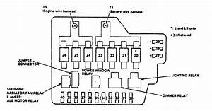 Acura Legend  1990   U2013 Fuse Box Diagram