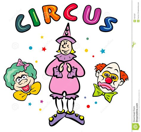 Circus Clowns  And Eps Royalty Free Stock Photography