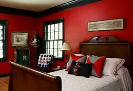 Red Black Grey White Bedroom by Eclectic Boys 39 Bedroom Seems Drenched In Red And Black Decoist