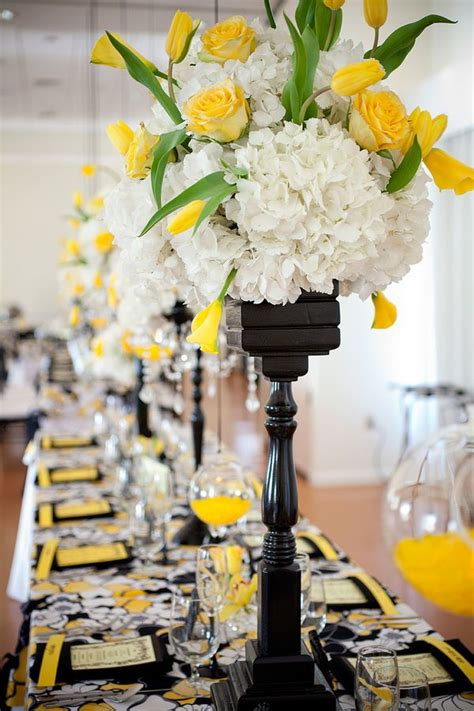 154 best images about panache on receptions yellow roses and centerpieces