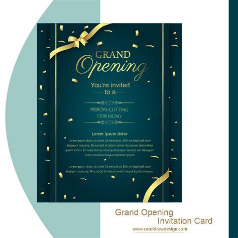 grand opening invitation card coreldraw design