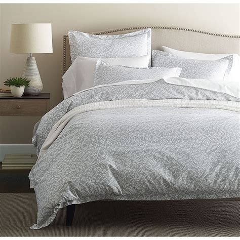 Sateen Duvet Cover by Legends Willow Gray Sateen Duvet Cover The Company Store