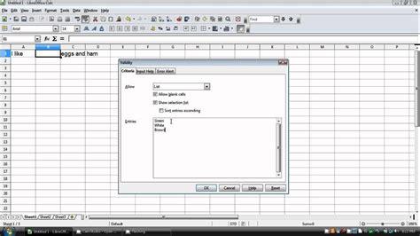 drop  list  openofficelibreoffice
