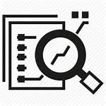 Icon Data Analytics Analysis Magnifier Glass Icons