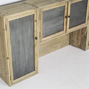 meuble haut cuisine 4 portes etageres made in meubles With porte en verre pour meuble de cuisine