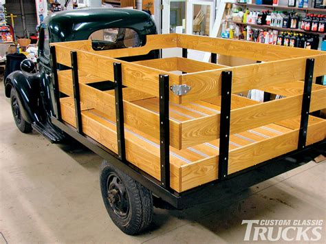 wooden truck bed bruce horkey 39 s wood parts rod network