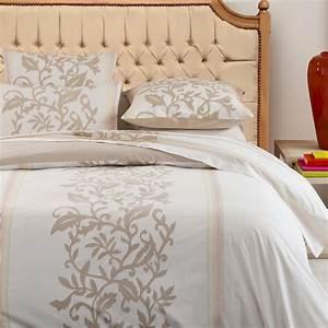 Tete De Lit Lin : t te de lit de style campagne chic h tre vernis et tissu lin ~ Melissatoandfro.com Idées de Décoration