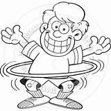 Hoop Hula Coloring Boy Cartoon Getcolorings Printable Getdrawings sketch template