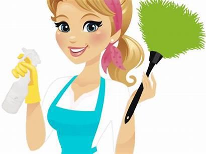 Clipart Cleaning Clip Clean Housekeeping Cartoon Maid