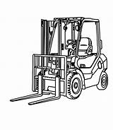 Forklift Coloring Drawing Illustration Colouring Hand Fork Lift Truck Drawn Construction Tractor Clipartmag Cartoon sketch template