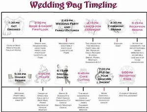 Pin wedding day schedule on pinterest for Wedding day schedule of events template
