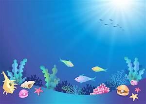Beautiful Underwater World Cartoon - Vector download