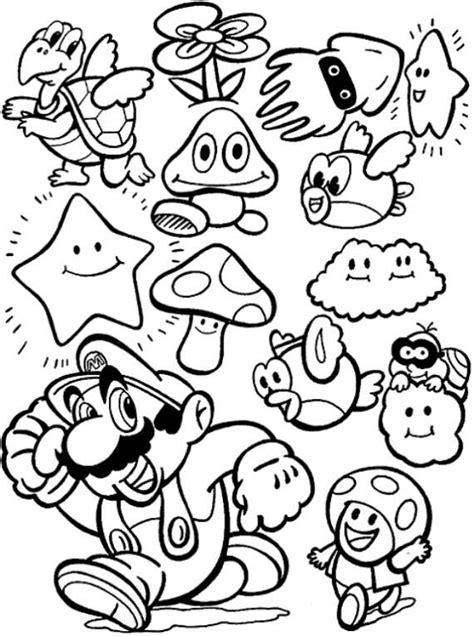 personaggi da colorare mario disegni da colorare di mario