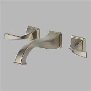brizo 65830lf bn virage double handle wall mount bathroom