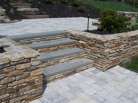 retaining wall patio steps flickr photo