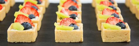 canape desserts dessert canapé catering the garden catering