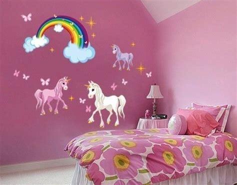 Wandgestaltung Kinderzimmer Regenbogen by Wandsticker Einhorn Set Kinder Rainbow Bedroom