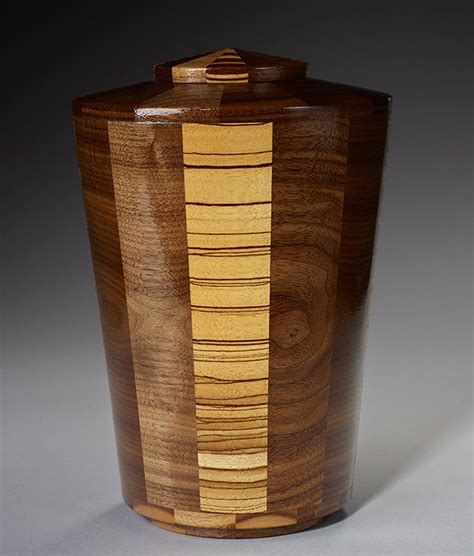 artisan crafted hand turned wood cremation urns urns