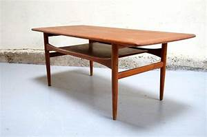 table basse scandinave arrebo mobler danois vintage danish With table tripode annees 50