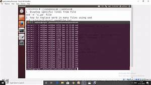 Sed Command In Linux Unix Ubuntu