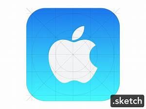 Apple Icon Ios7 Guide Sketch Freebie